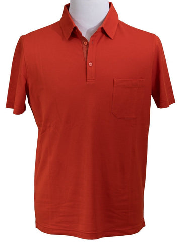 LORO PIANA Superfine Cotton Red Polo Shirt ~ Made in Italy
