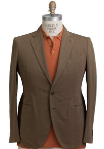 BOGLIOLI COAT Dyed Tobacco Brown Cotton~Linen Sportcoat 46 (EU 56) Made in Italy