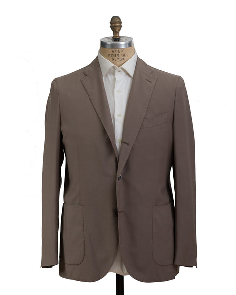 BOGLIOLI K. Jacket Taupe Wool Sportcoat 44 (EU 54) Made in Italy