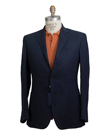 POLO Ralph Lauren Navy Blue Linen Sportcoat ~ Custom Fit