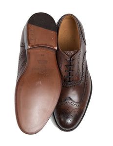 CANALI 1934 Brown Goodyear Welted Shoes 6 (39) Hand-made in Italy