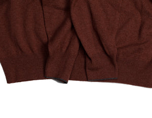 BRUNELLO CUCINELLI Pure Cashmere Maroon Polo Sweater XL (EU 56) Made in Italy