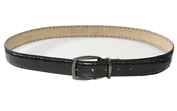 Brioni Genuine Crocodile Black Belt 40 (EU 105) Made in Italy