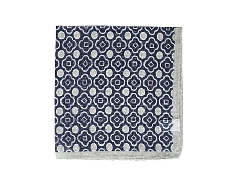 Anderson & Sheppard Printed Cotton Pocket Square ~ Made in Italy