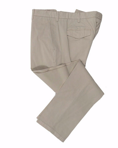 CANALI 1934 Beige Cotton Chino Pants ~ Made in Italy