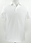 Morigi Superfine Pique Cotton White Polo Shirt ~ Made in Italy (Capri Collar)