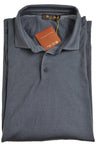 LORO PIANA Dyed Blue Polo Sweater XXXL (62) Made in Italy