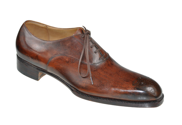 Roberto Ugolini Bespoke Brown Calf Leather Shoes 6.5 (IT 39) Hand-made in Italy