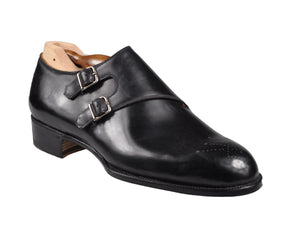 Roberto Ugolini Bespoke Genuine Cordovan Wholecut Shoes 10 (IT 43) Hand-made in Italy
