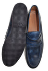 Bontoni Blue Leather Loafers Shoes ~ Handmade in Italy