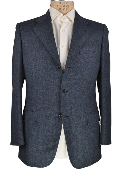 Belvest Blue Wool Suit 38 (EU 48) Tailored in Italy