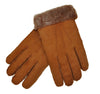 Schiatti & C. Shearling Lined Leather Gloves M (EU 8) Made in Italy