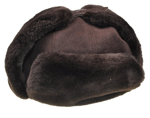SCHIATTI & C. Beaver Fur Hat with Crocodile Flap XXL ~ Made in Italy