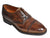 BONTONI Brown Patina Leather Norwegian Welt Shoes 7.5 Hand-made in Italy