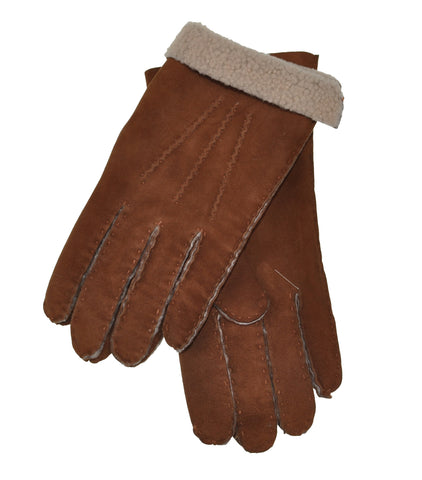 Schiatti & C. Shearling Lined Leather Gloves L (EU 9) Made in Italy