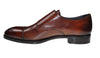 Scarpe DI BIANCO Premium Brown Leather Double-Monk Shoes 11 Hand-made in Italy