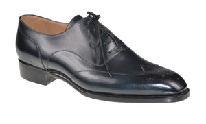 Roberto Ugolini Midnight Blue Calf Leather Shoes 9 (IT 42) Hand-made in Italy