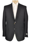 CANALI 1934 Charcoal Pinstriped Two-Button Wool Suit 46 (EU 58) Tailored in Italy