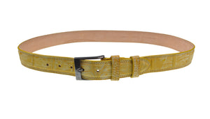 Schiatti & C. Genuine Porosus Crocodile Belt 36-38 Hand-made in Italy (Sterling Silver Buckle)