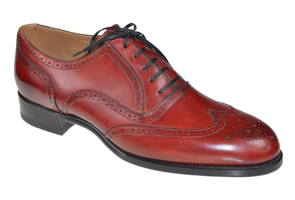 Roberto Ugolini Burgundy Calf Leather Shoes 9 (IT 42) Hand-made in Italy