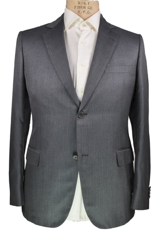 Giovanni CASTANGIA Gray Super 160's Wool Two-Button Suit 40 (EU 50) Handmade in Italy
