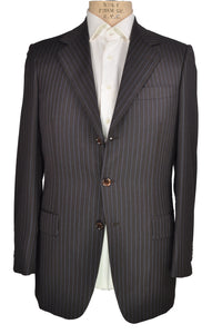 Sartoria CASTANGIA Super 130's Wool Brown Suit 38 L (EU 48) Handmade in Italy