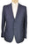 Sartoria CASTANGIA Two-Button Blue Wool & Linen Suit 40 (EU 50) Handmade in Italy w/Leather Details