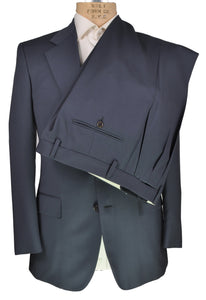 Sartoria CASTANGIA Two-Button Blue Wool Suit ~ Handmade in Italy
