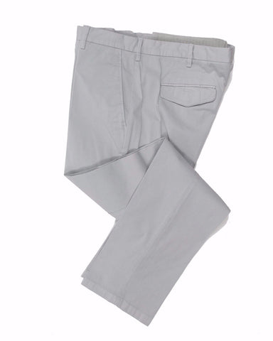 CANALI 1934 Light Gray Cotton Chino Pants ~ Made in Italy