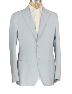 Brioni Superfine Cotton Sky Blue Two Button Sportcoat 42 (52) Hand-tailored in Italy