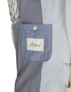 Brioni Superfine Cotton Sky Blue Sportcoat 42 (52) Hand-tailored in Italy