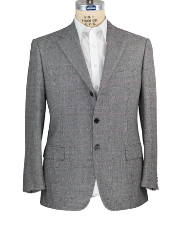 Brioni Gray Plaid Wool Suit 42 (52) Handmade in Italy