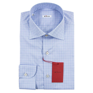 Kiton Napoli Extrafine Cotton Modern Fit Dress Shirt ~ Handmade in Italy