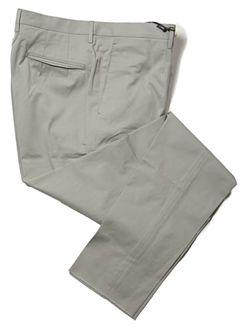 BOGLIOLI Light Gray Cotton Slim Fit Dress Pants ~ Made in Italy