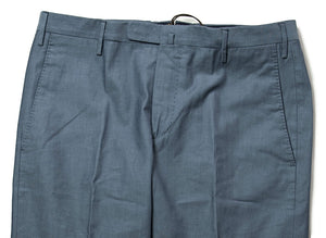 BOGLIOLI Ocean Blue Cotton Slim Fit Dress Pants 34 (EU 50) Made in Italy