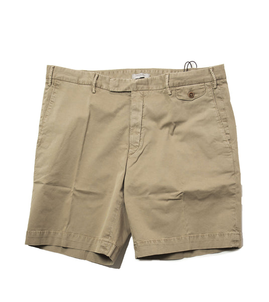 BOGLIOLI Olive Dyed Cotton Slim Fit Shorts 36 (EU 52) Made in Italy