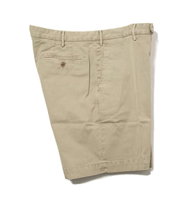 BOGLIOLI Olive Dyed Cotton Slim Fit Shorts ~ Made in Italy