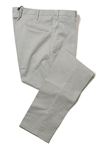 BOGLIOLI Light Gray Slim-Fit Stretch Cotton Pants ~ Made in Italy