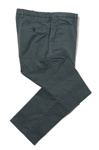 BOGLIOLI Petroleum Slim-Fit Stretch Cotton Pants ~ Made in Italy