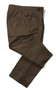 ORAZIO LUCIANO Napoli Brown Wool Pants 32 (EU 48) Handmade in Italy