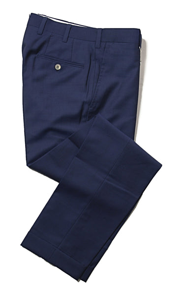 ORAZIO LUCIANO Napoli Royal Blue Pants 32 (EU 48) Handmade in Italy
