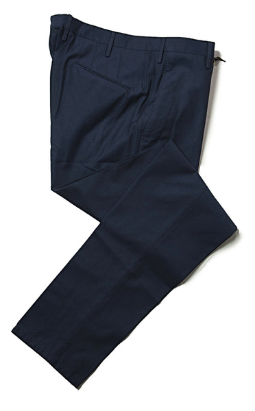 BOGLIOLI Dark Royal Blue Cotton Slim Fit Dress Pants 35 (EU 52) Made in Italy