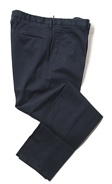 BOGLIOLI Dyed Blue Slim-Fit Stretch Cotton Pants ~ Made in Italy