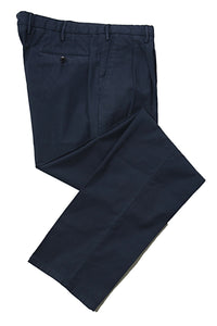 BOGLIOLI Navy Blue Slim-Fit Stretch Cotton Pants 32 (EU 48) Made in Italy