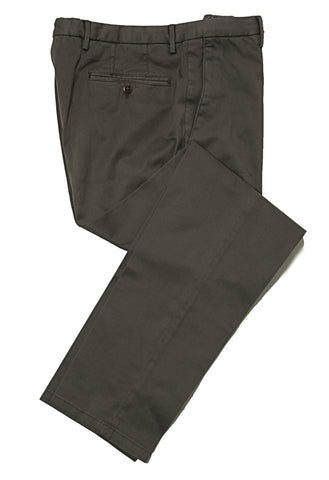 BOGLIOLI Army Green Slim-Fit Stretch Cotton Pants ~ Made in Italy