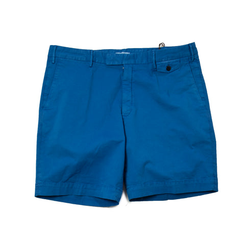 BOGLIOLI Royal Blue Dyed Cotton Slim Fit Shorts 34 (EU 50) Made in Italy