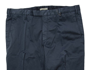 BOGLIOLI Navy Blue Slim-Fit Stretch Cotton Pants ~ Made in Italy