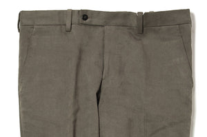 ORAZIO LUCIANO Napoli Brushed Cotton Olive Pants 34 (EU 50) Handmade in Italy