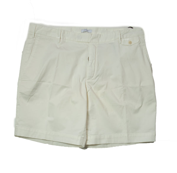BOGLIOLI White Dyed Cotton Slim Fit Shorts ~ Made in Italy