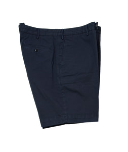 BOGLIOLI Navy Blue Dyed Cotton Slim Fit Shorts ~ Made in Italy